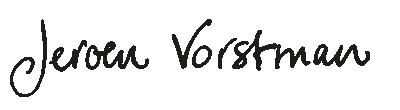 handtekening Jeroen Vorstman
