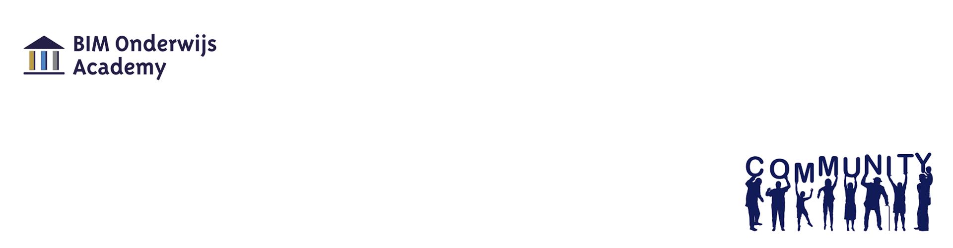 Bim onderwijsdag logo community