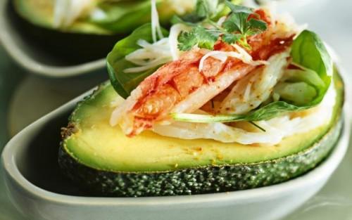 Avocado met krab