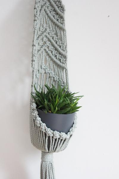 macramé wand plantenhanger