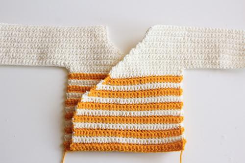 Haakpatroon Baby Kimono 3
