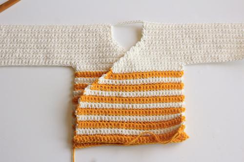 Haakpatroon Baby Kimono 4