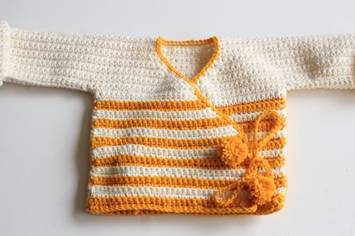 Haakpatroon Baby Kimono 7