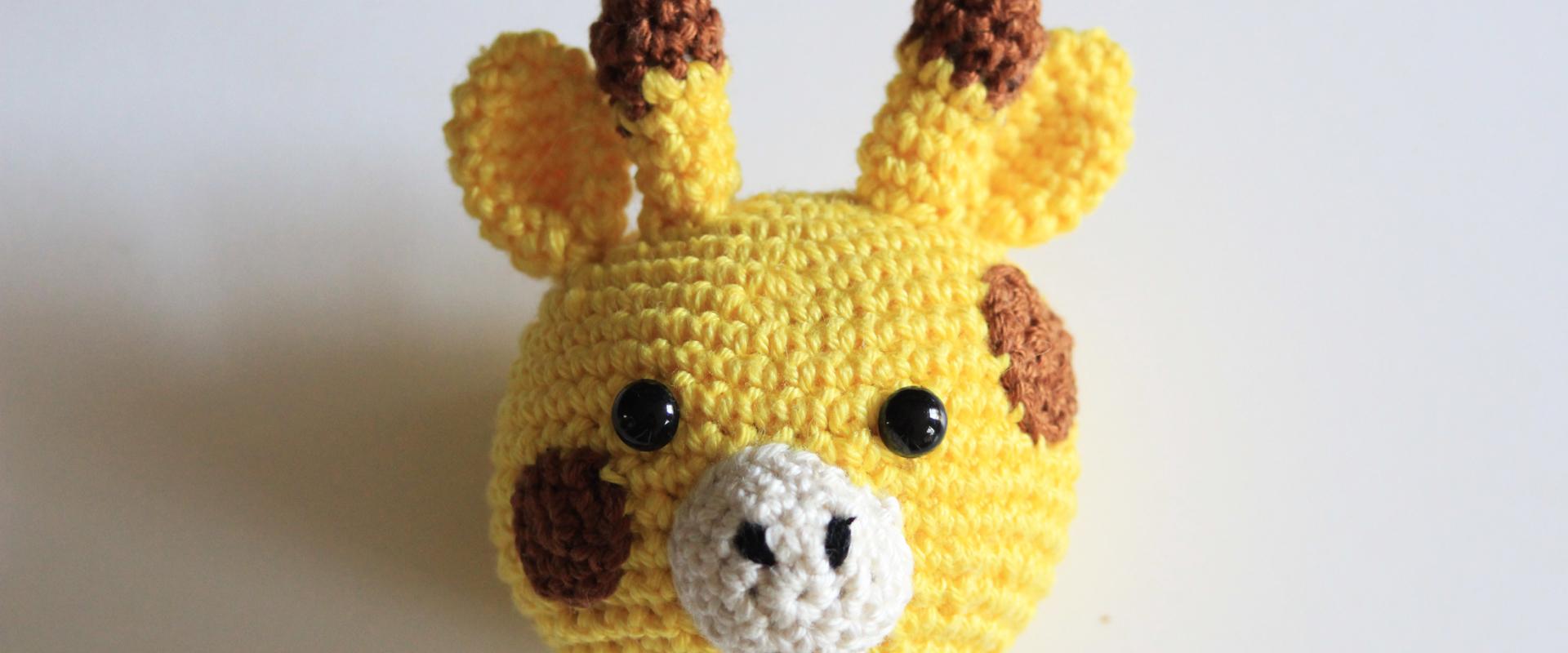 Gratis Haakpatroon Dierenhoofdje Giraffe, Voor Knuffeldoek & Knuffels :)