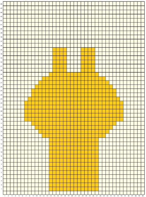Haakpatroon Wandhanger Giraffe Grid