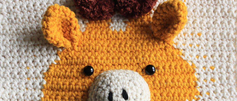 Haakpatroon Dieren Wandhanger Giraffe, Geweldig voor de Kinderkamer!