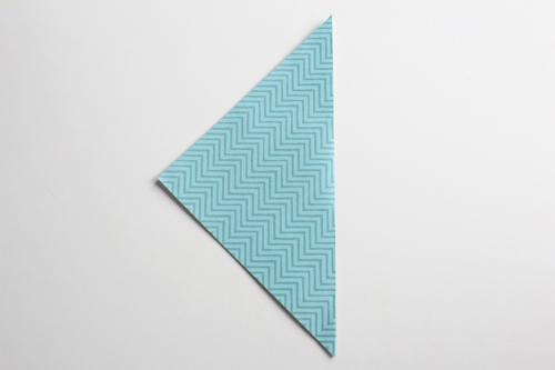 Origami Kerstbal stap1