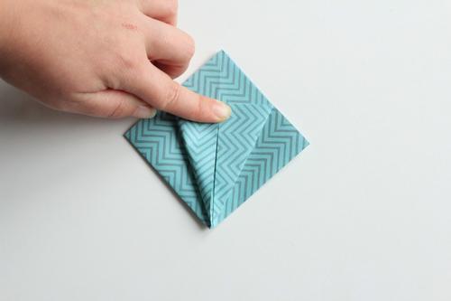 Origami Kerstbal stap10