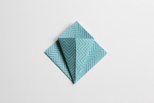 Origami Kerstbal stap11