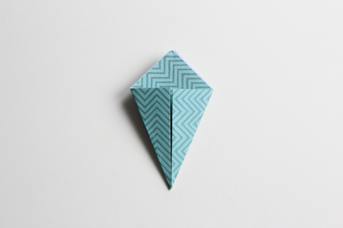 Origami Kerstbal stap12
