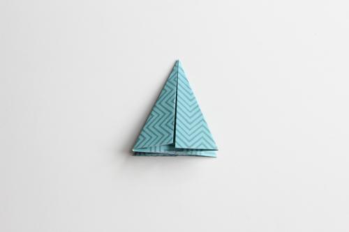 Origami Kerstbal stap13