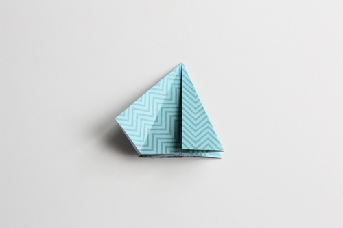 Origami Kerstbal stap14