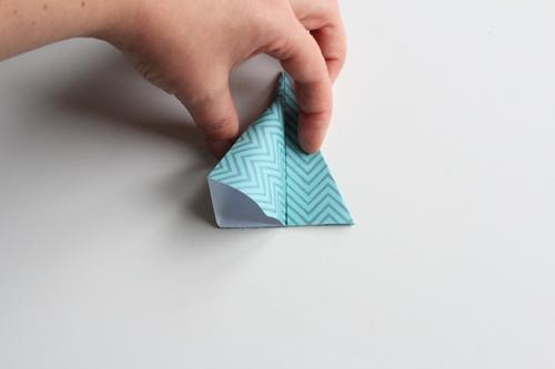 Origami Kerstbal stap15
