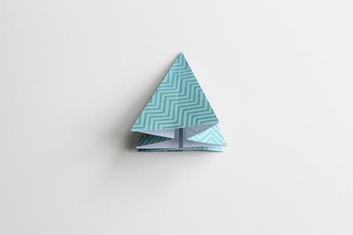 Origami Kerstbal stap16