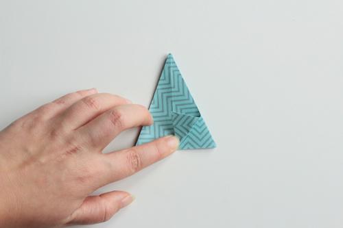 Origami Kerstbal stap17
