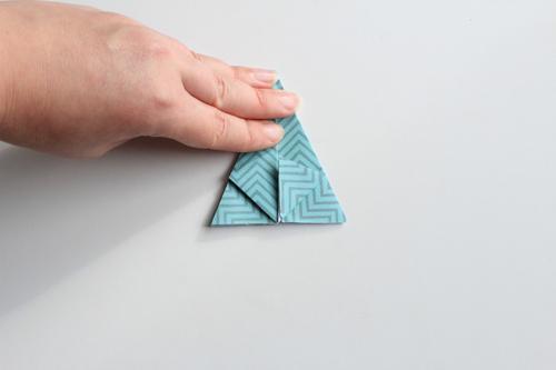 Origami Kerstbal stap18