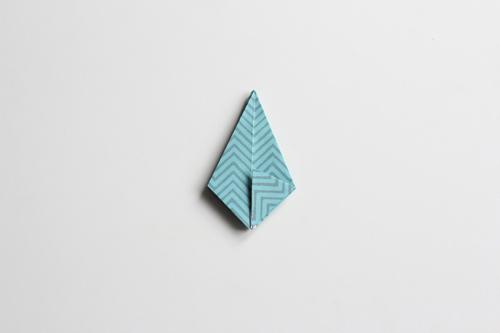 Origami Kerstbal stap19