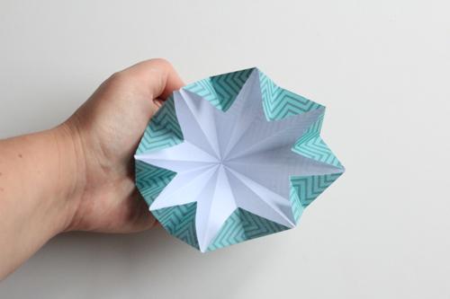 Origami Kerstbal stap20