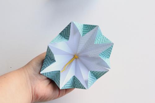 Origami Kerstbal stap21