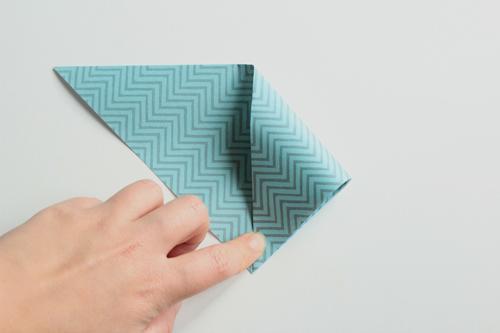 Origami Kerstbal stap3