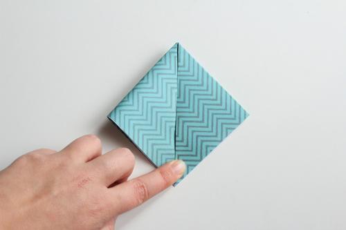 Origami Kerstbal stap4