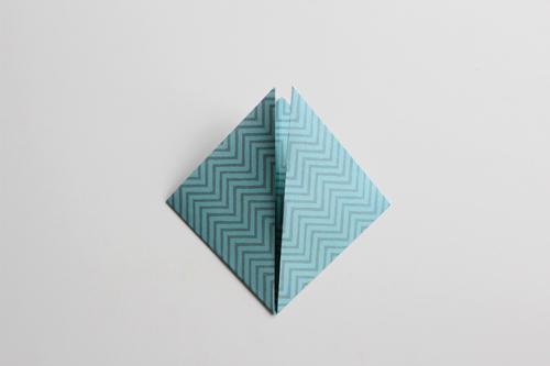 Origami Kerstbal stap5