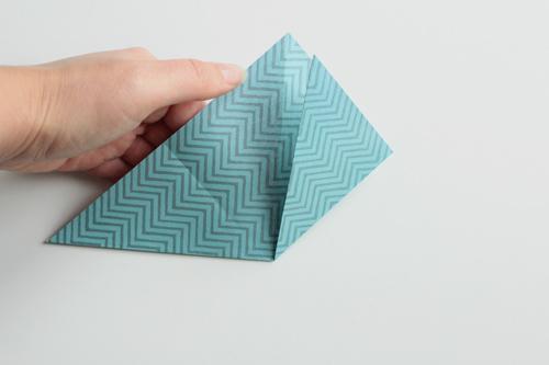 Origami Kerstbal stap6
