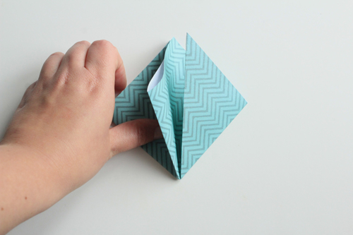Origami Kerstbal stap7