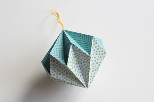 Origami Kerstbal