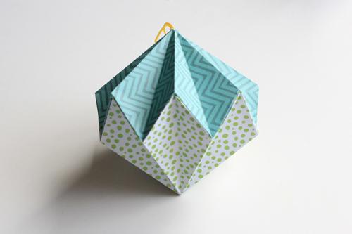 Origami Kerstbal1