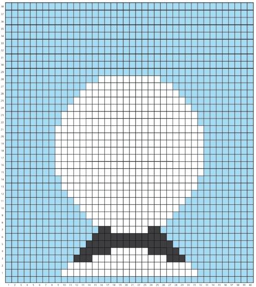 haakpatroon Wandhanger Panda Grid