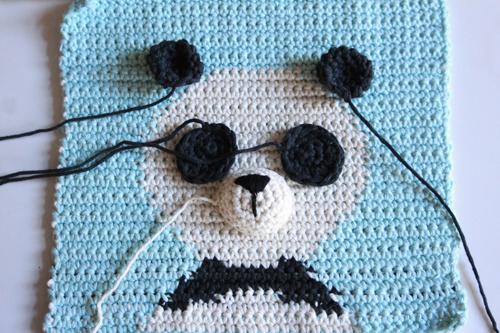 Haakpatroon Wandhanger Panda Stap8