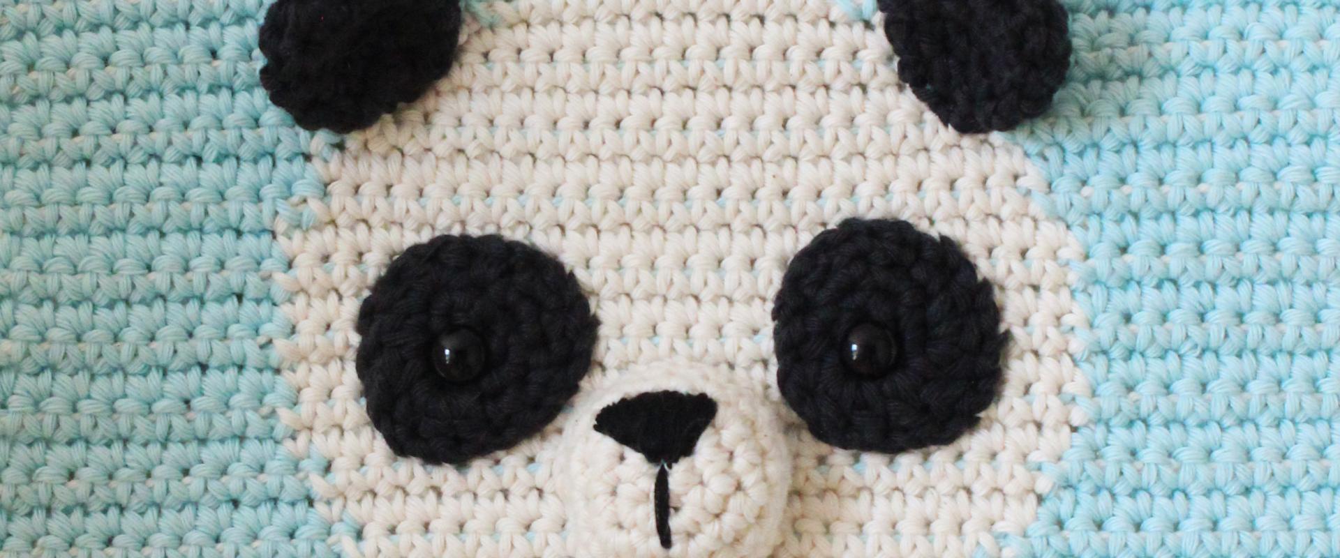 Gratis Haakpatroon Wandhanger Panda, Geweldig voor de Kinderkamer!