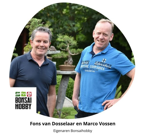 Eigenaren Bonsaihobby Marco en Fons
