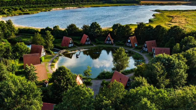 Groepsaccommodatie meerdere huisjes in Bant Flevoland