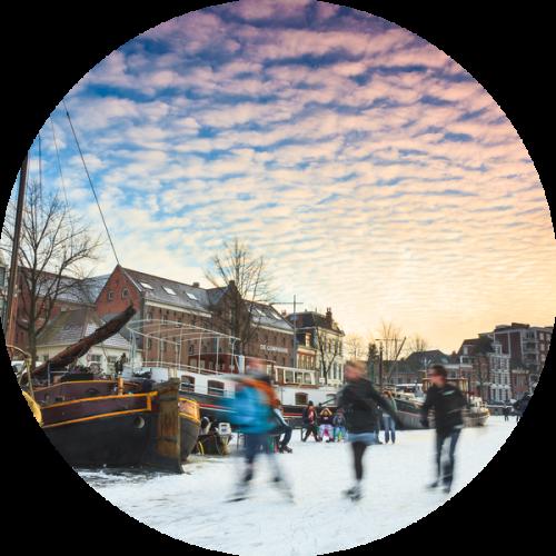 Winter provincie Groningen