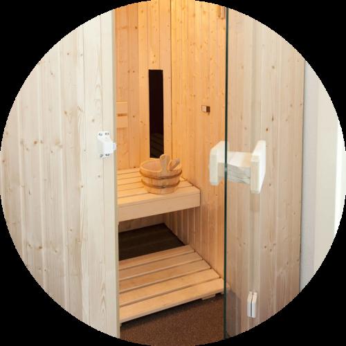 groepsaccommodatie op een vakantiepark met een sauna