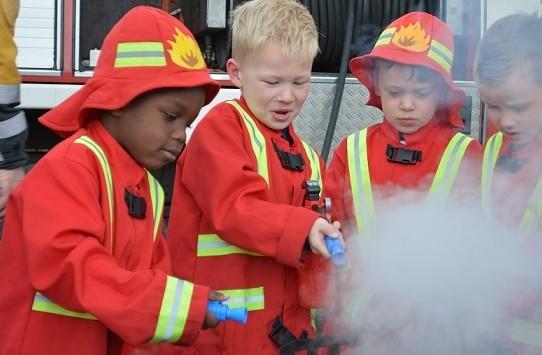 Brand blussen tijdens kinderfeestje