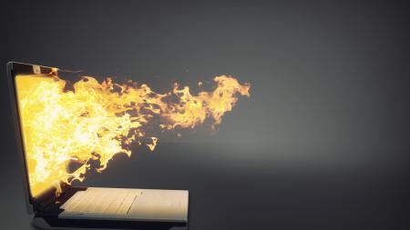 Vuur uit laptop
