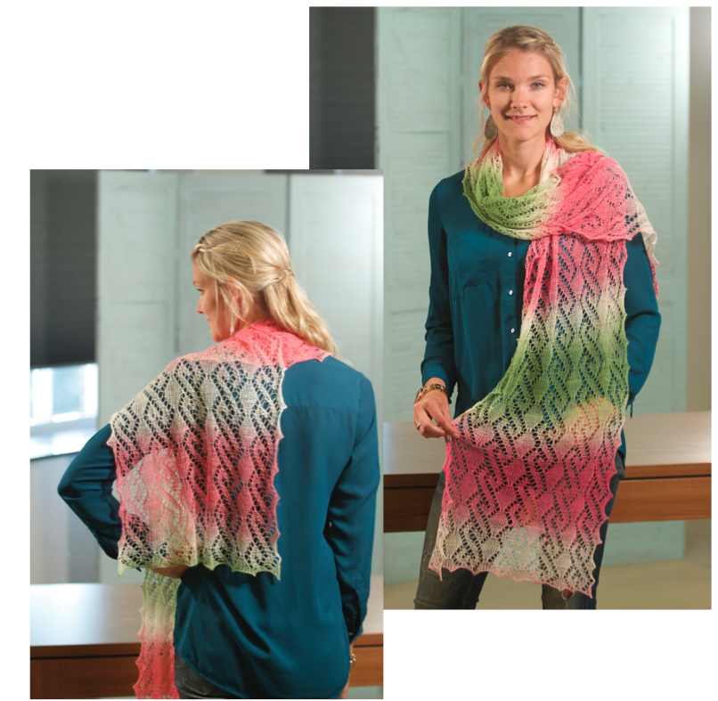 Prachtige kanten shawl: Silvia!