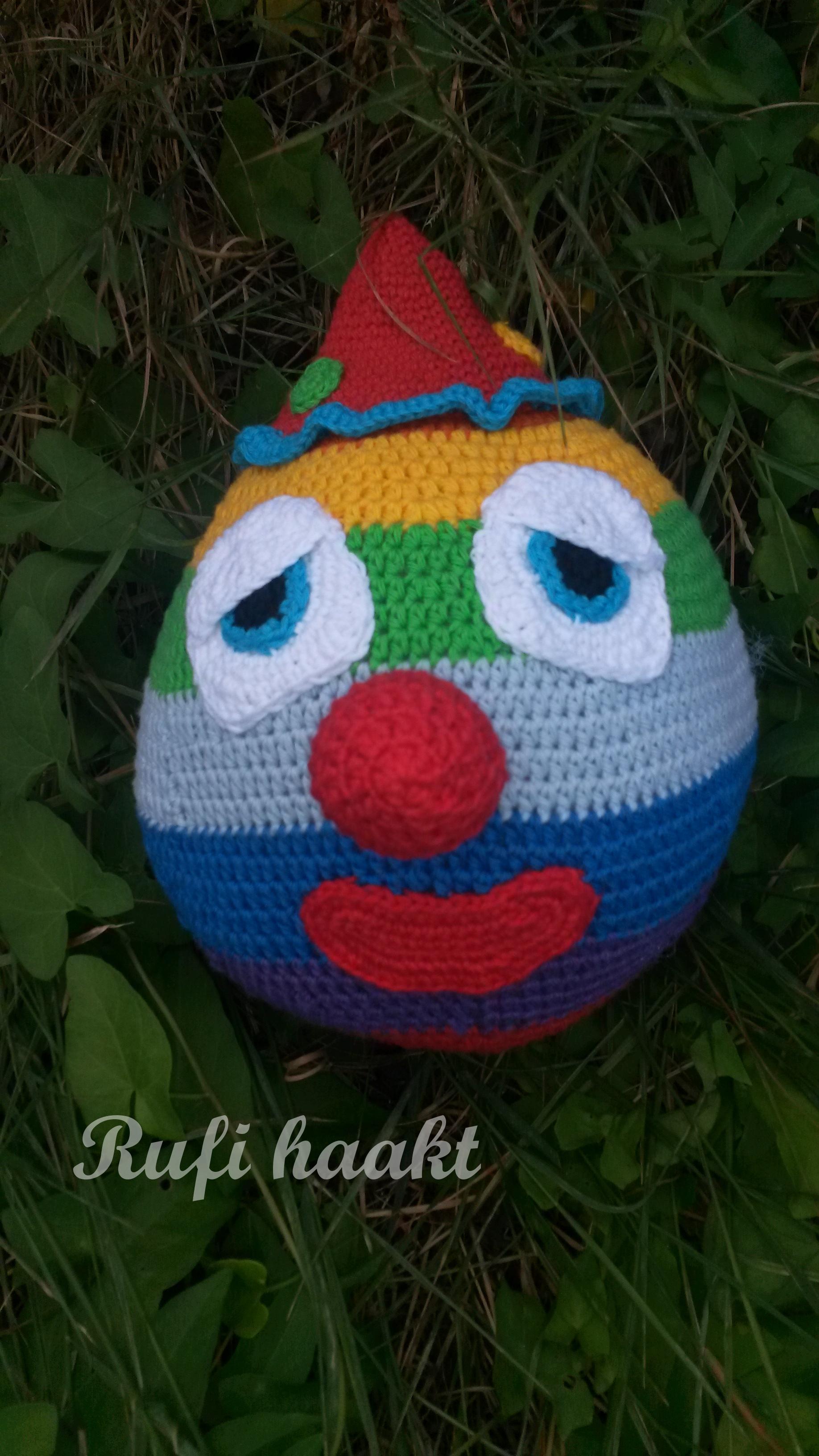 Clown Regenboogbal