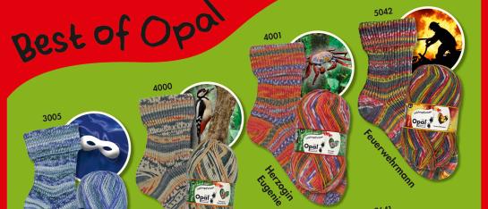 De mooiste kleuren uit oude series Opal sokkenwol