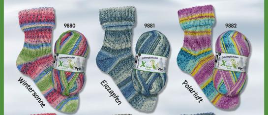 De dikste serie sokkenwol die Opal ieder jaar uitgeeft is deze mooie 8-draads serie in 6 kleuren