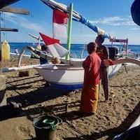 Vissersboot Amed Bali