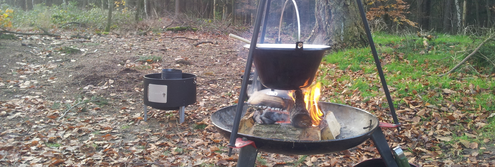 koken bij het vuur