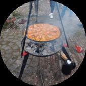 samen buiten koken