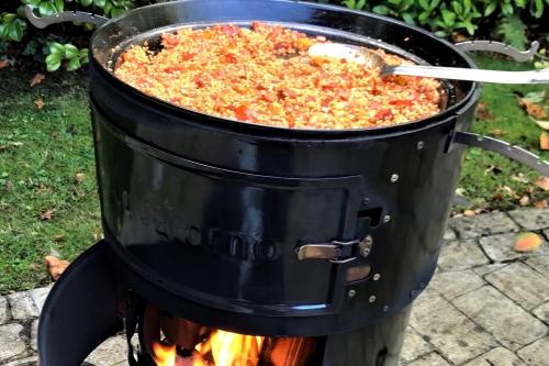 paella maken op de aquaforno