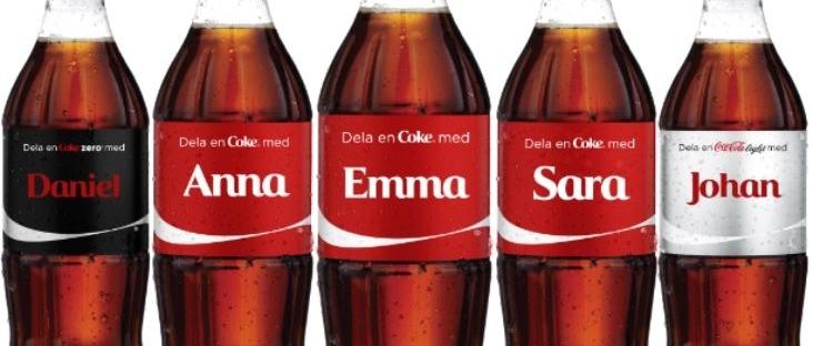 coca cola voornamen campagne