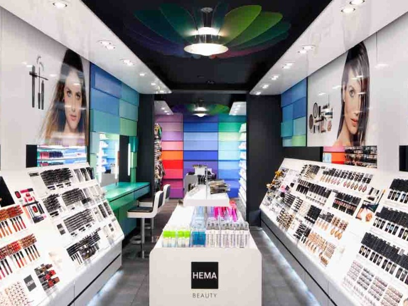 POS materiaal, Retailcommunicatie BuroDoorgaan, Hema Beauty