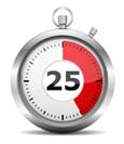 De Buteyko Controle Pauze is 25 seconden